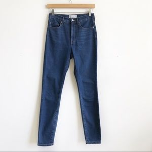 Everlane High Rise Skinny Jeans Dark Wash